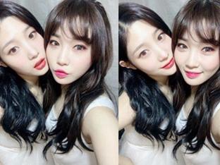 정채연X김청하, 물오른 미모+어여쁜 우정 '예쁨 폭발 셀카'
