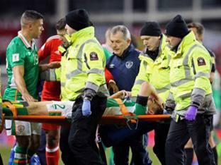 아일랜드 DF 콜먼, 웨일스전서 다리 골절 부상...에버턴도 비상
