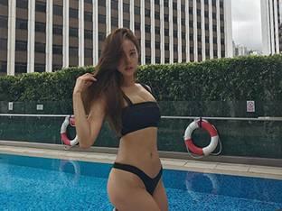 모델 김주희, 매끈한 비키니 자태