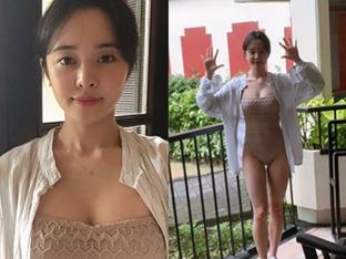 [오늘의 S-girl] 최설화, 수영복 입고 휴가 인증샷 '러블리 뿜뿜'
