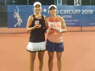 한나래·이소라, 싱가포르 서키트 테니스 복식 준우승