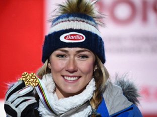 '스키요정' 시프린, 알파인 세계선수권 여자 회전 4연패 달성