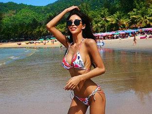 김예림, 해변 빛낸 글래머 몸매