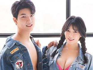 노지훈, 레이싱모델 아내 이은혜와 파격화보 '부부만이 가능'