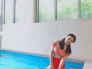차오루, 비키니 입고 뽐낸 반전 몸매 '시선 강탈'