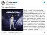 'Thank you, Baseball'…사바시아, 공식 은퇴 선언