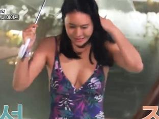 박연수, 수영복 입고