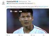 北 박광룡 득점 장면에 태극기? AFC 공식 SNS 망신