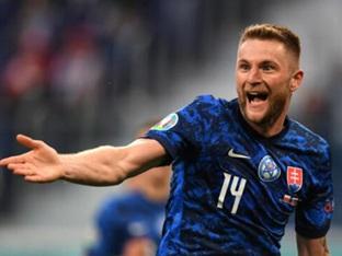 [유로2020] '레반돕 완전 봉쇄' 슬로바키아, 폴란드에 2-1 승리