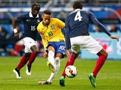 국제 친선경기  프랑스 1:3 브라질