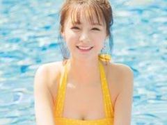 중국 배우 심몽진, 귀엽고 섹시한 비키니 자태