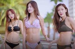 머슬퀸 3인방의 비키니 화보!! - 안인선, 이휘진, 김시아 라스베가스 수영장 화보!!