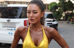 비키니 대회 직전 근육 펌핑…피트니스 선수 조지연