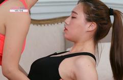 선수진ㆍ아미라의 등 군살 빼는 허리 운동…낙타 자세