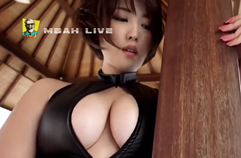 Japan Gravure Idol Oshino Sara 忍野さら Black Bikini