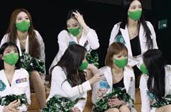 [4K] 치어리더 원주DB (cheerleader) - 쉬는 타임(방송 리액션) @남자농구(원주DB)/210110/Fancam By 쵸리(Chori)