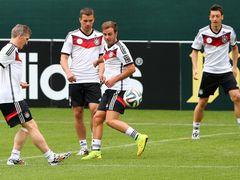 월드컵을 준비하고 있는 독일 선수들